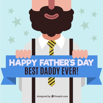 Nice father's day greeting in flat design