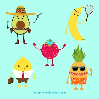 Nice fruit characters collection