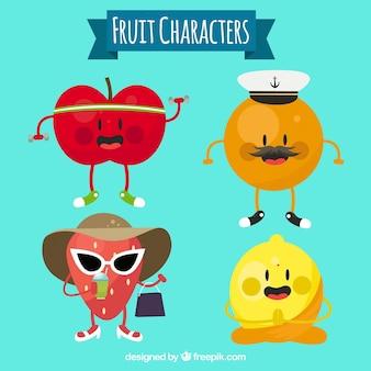 Nice fruit characters