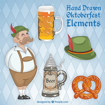 Nice german with elements oktoberfest