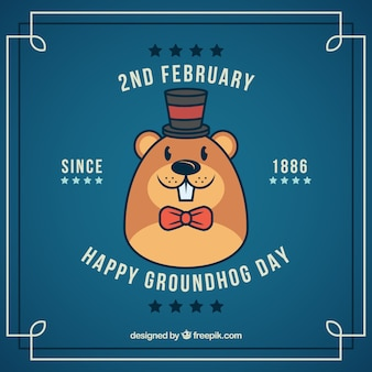 Nice groundhog face background