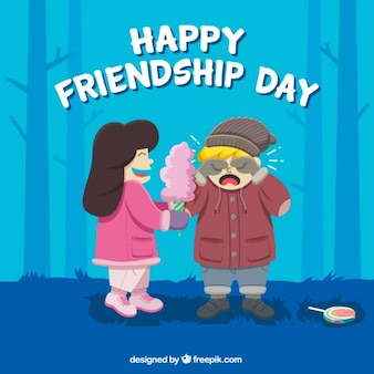 Nice happy friendship day background