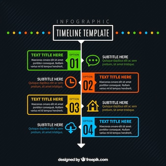 Nice infographic on black background