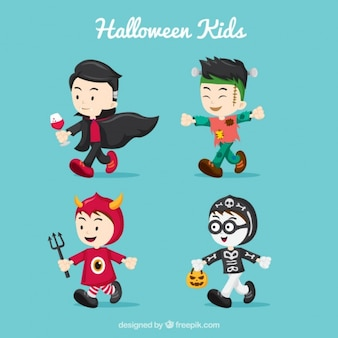 Nice kids pack with halloween costumes