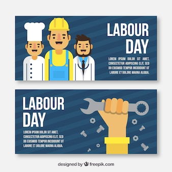 Nice labour day banners