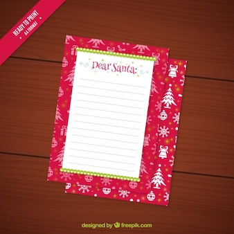 Nice letter template to santa claus
