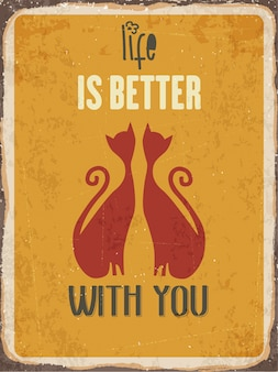 Nice love quote with cats