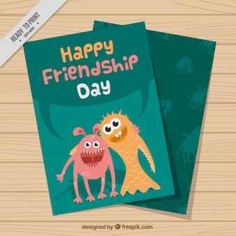 Nice monsters friendship day card