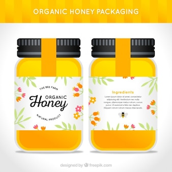 Nice pack of organic honey jar