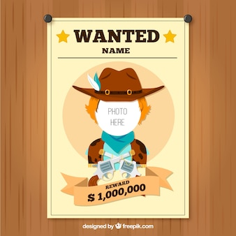 Nice poster cowboy wanted