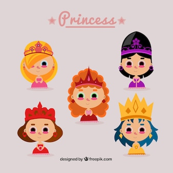 Nice princesses with crowns
