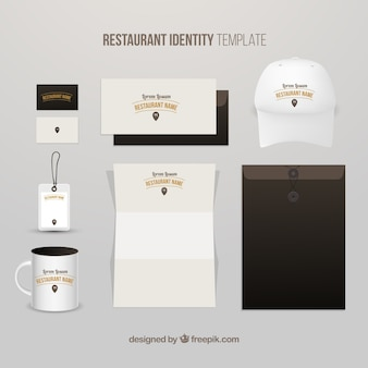 Nice restaurant identity with a cap
