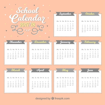 Nice school calendar for 2017