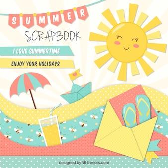 Nice scrapbook for summer