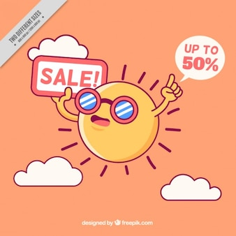 Nice sun with sales background