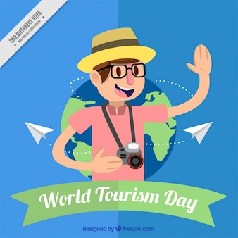 Nice tourist background for the world tourism day