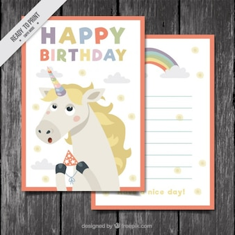Nice unicorn birthday card