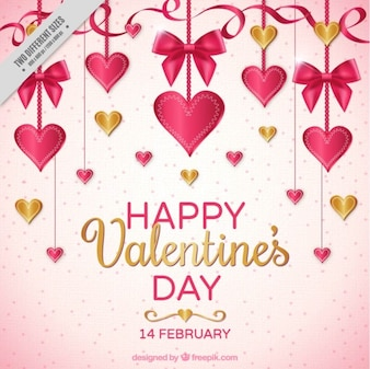 Nice valentine background with decoration hanging
