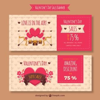 Nice valentine sales banners