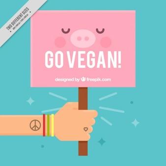 Nice vegan sign background