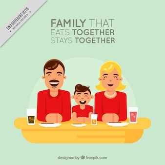Nice vintage family with inspiring message