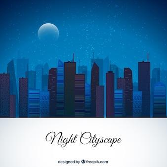 Night Cityscape Background