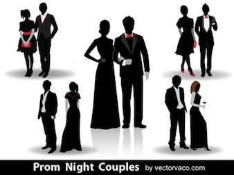 Night Couples Silhoutes