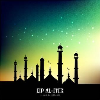Night eid al fitr background
