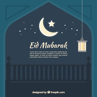 Night eid mubarack background
