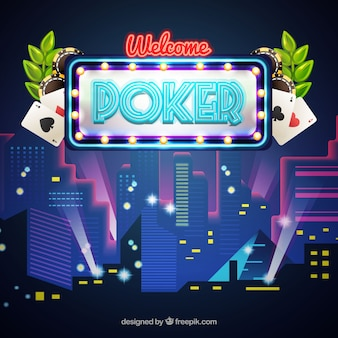 Nightclub background with poker