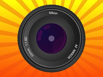 Nikkor photographer lens vector pack
