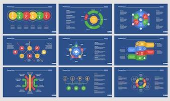 Nine Strategy Charts Slide Templates Set