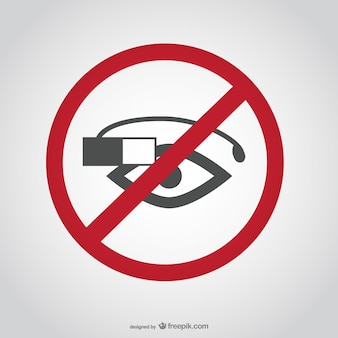 No Google glasses sign