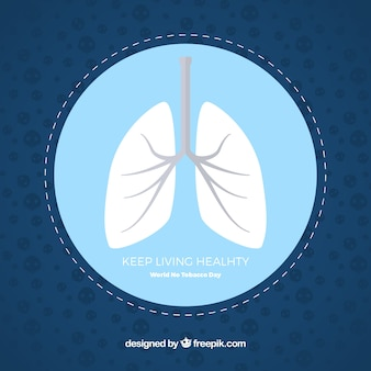 No tobacco day background with lungs