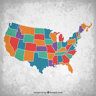 北米の地図