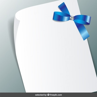 Note with blue ribbon
