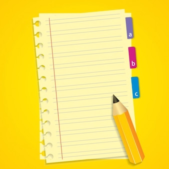Notebook and Pencil Background