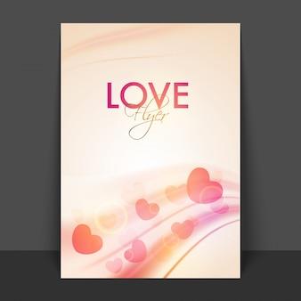 Notebook notepad heart banner brochure