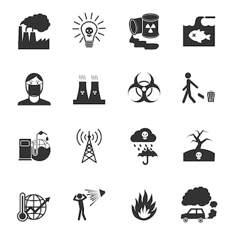 Nuclear plant icons collection