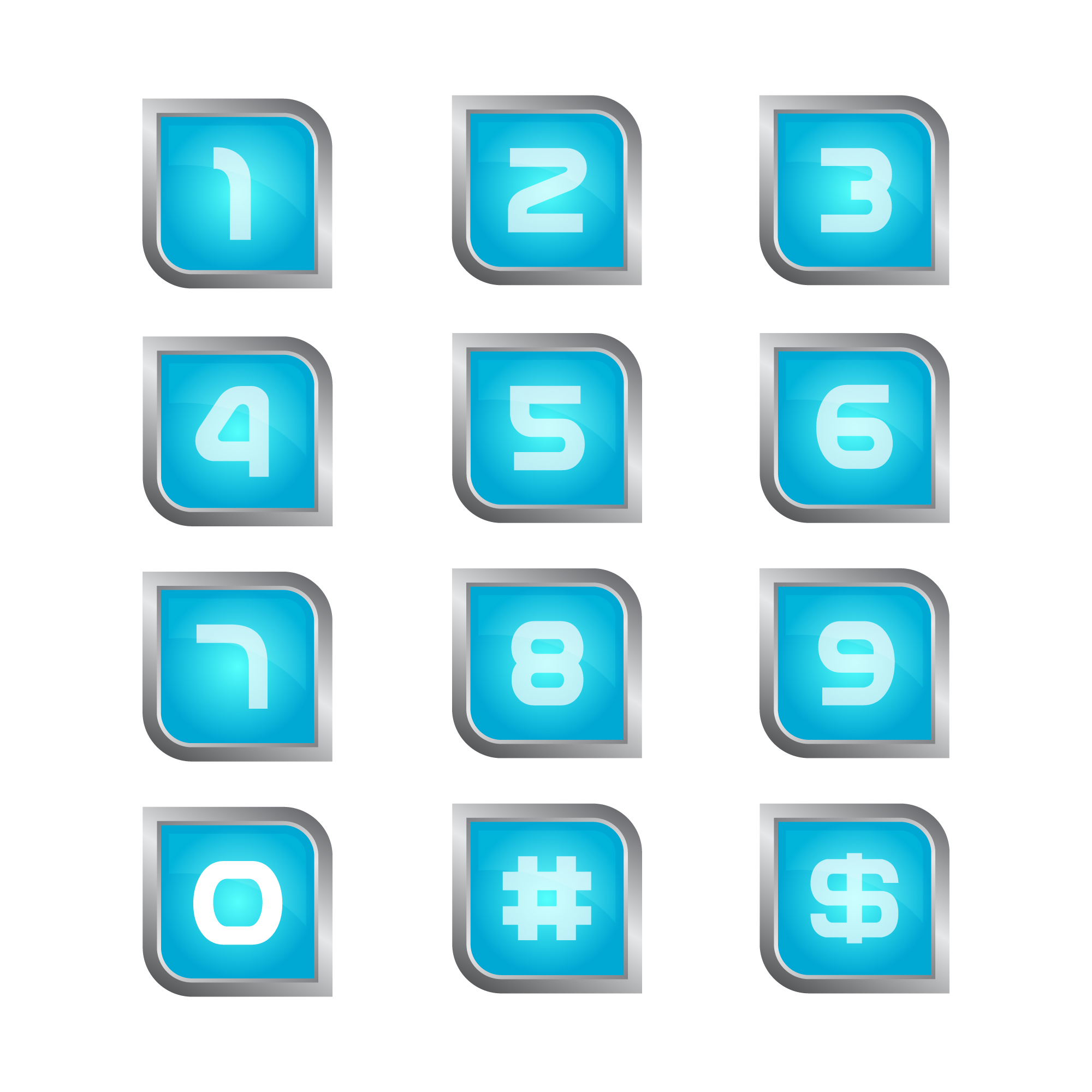 Number icons collection