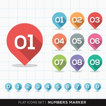 Number markers collection