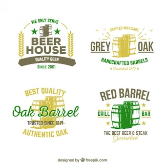 Oak barrels badges