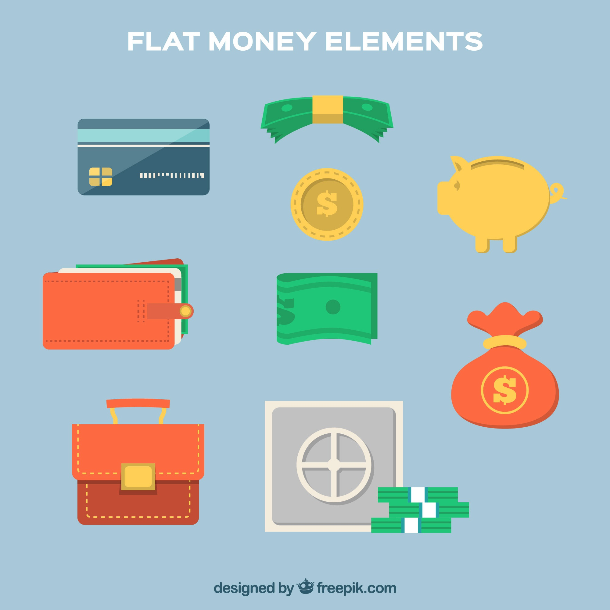 Objects and elements of money collection