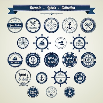 Ocean and sea nautical badges
