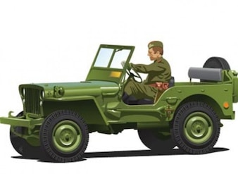 Off Road Army Vehicle Vector