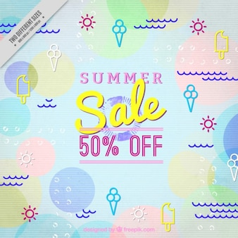 Offer background with abstract shapes