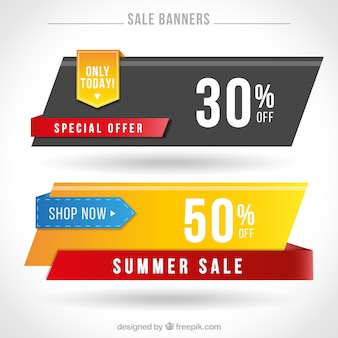 Offer banners in modern design