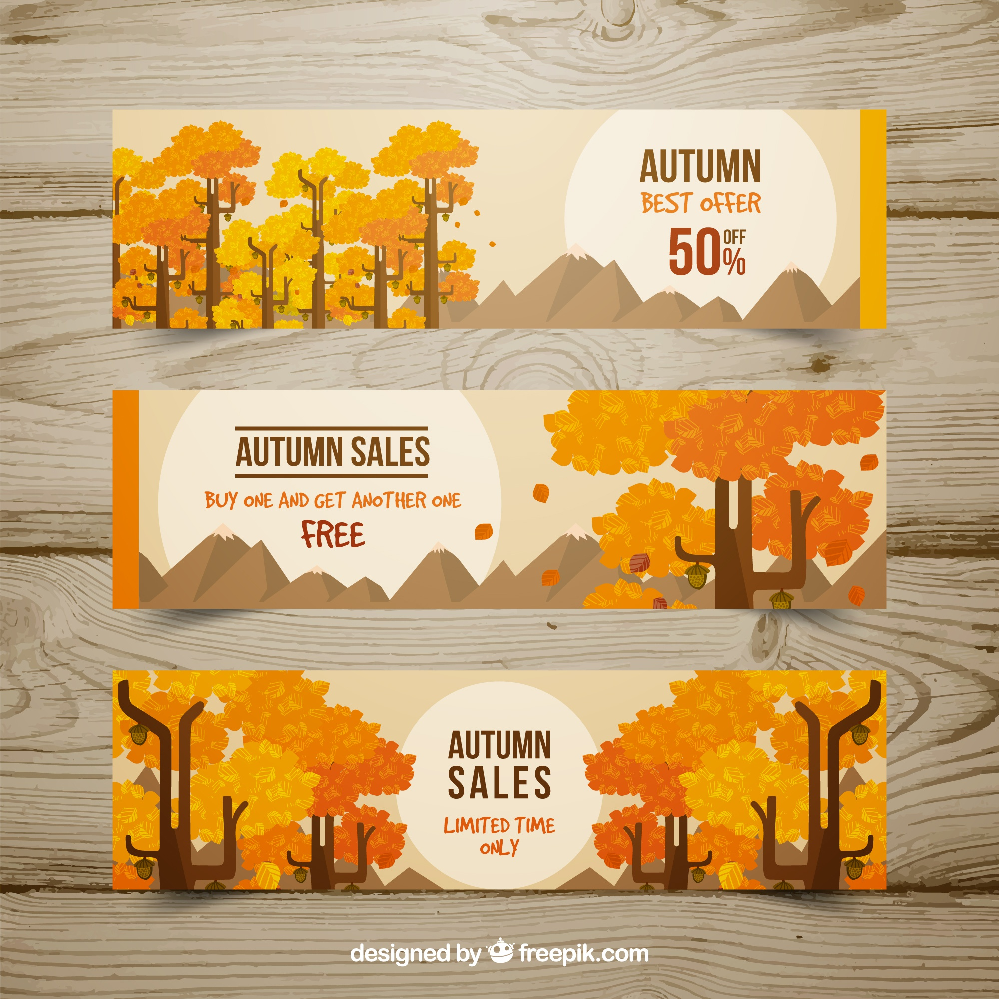 Offers banners, autumn
