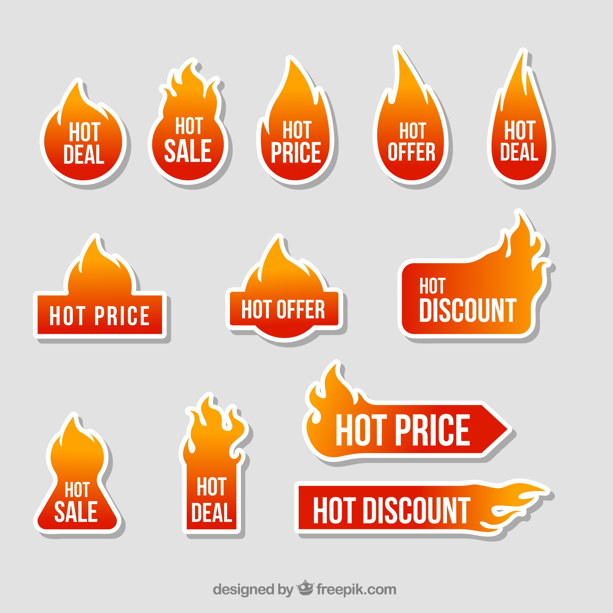 Offers fire sticker collection