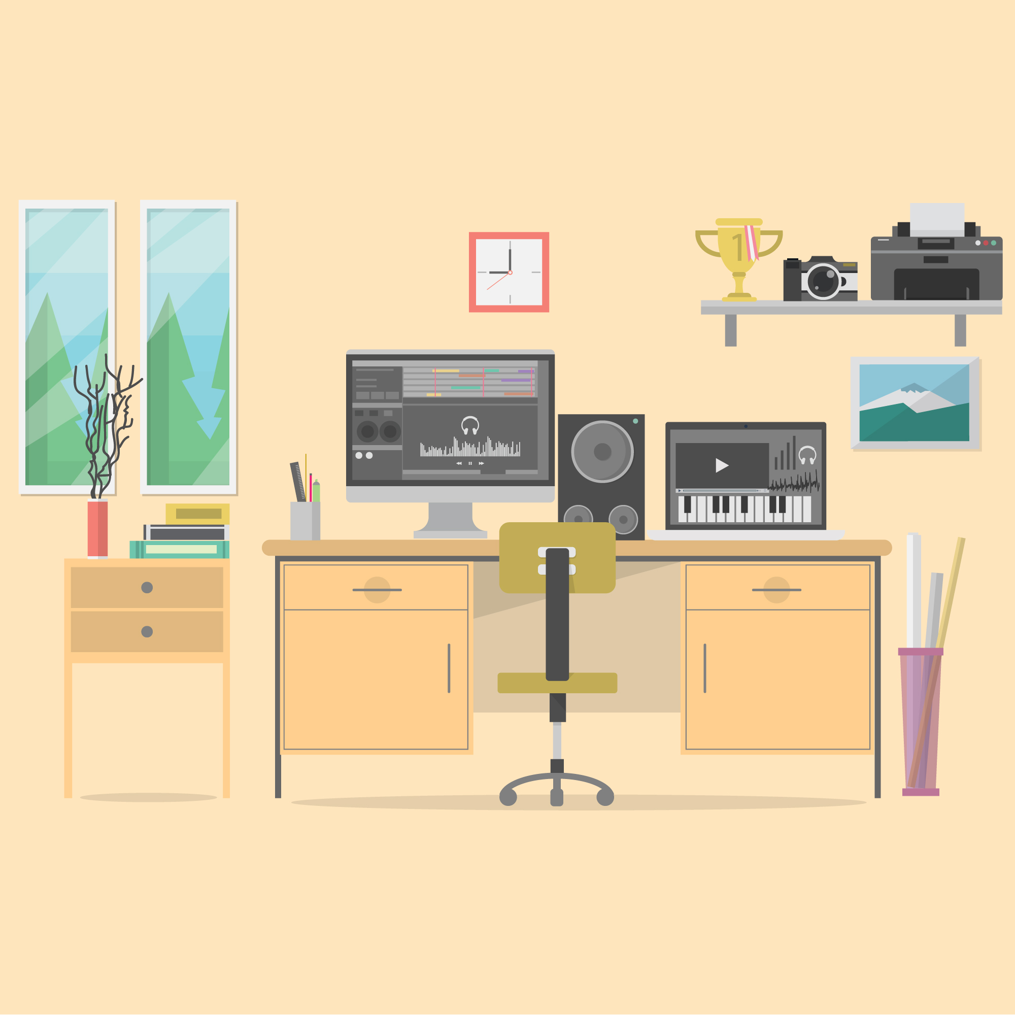 Office background design